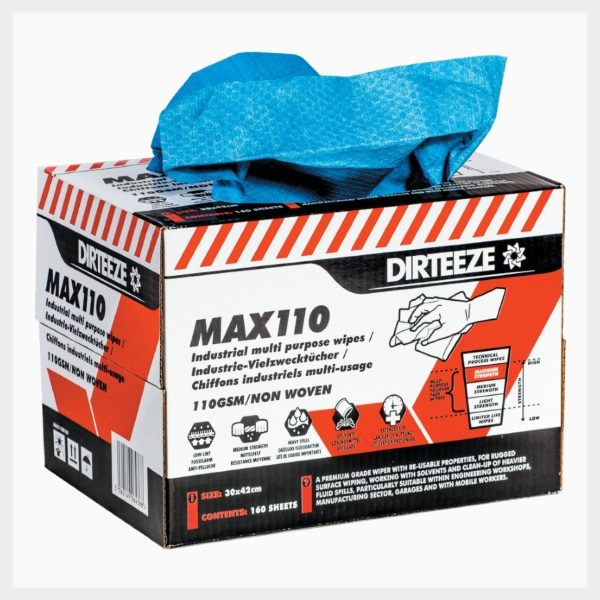 Dirteeze MAX110 Industrial Multi-Purpose  Wipes