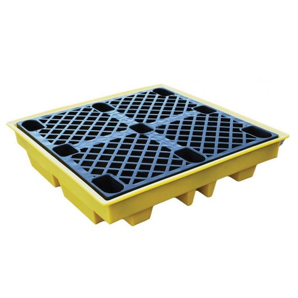 TSSBP4L 4-Drum Low Profile Spill Pallet